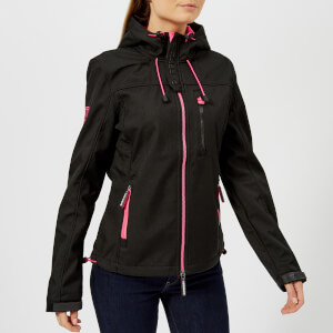 Superdry Women's Hooded Windtrekker - Black/Code Pink