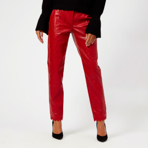 Philosophy di Lorenzo Serafini Women's Eco Leather Trousers - Red