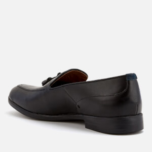Hudson London Men's Aylsham Leather Tassle Loafers - Black: Image 2