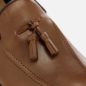 Hudson London Men's Aylsham Leather Tassle Loafers - Tan: Image 4