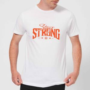Stay Strong Logo Men's T-Shirt - White