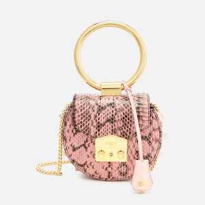 SALAR Women's Jie Snake Ring Bag - Baby Pink