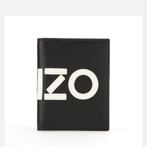 KENZO Men's Leather Logo Card Holder - Black