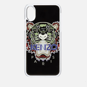 KENZO Men's Tiger Silicone iPhone X Case - Black
