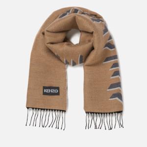 KENZO Men's Geotiger Wool Scarf - Dark Camel