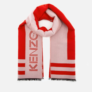 KENZO Sport Logo Scarf - Medium Red