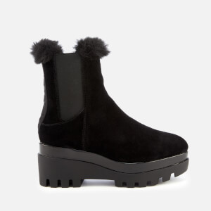 DKNY Women's Bax Wedged Ankle Boots - Black