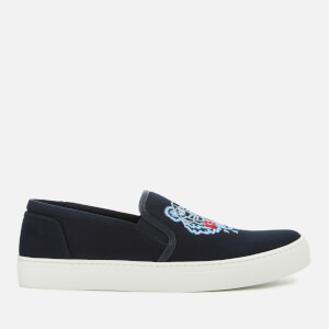 KENZO Men's Canvas Tiger Slip On Trainers - Navy Blue