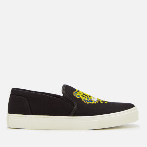 KENZO Men's Canvas Tiger Slip On Trainers - Black