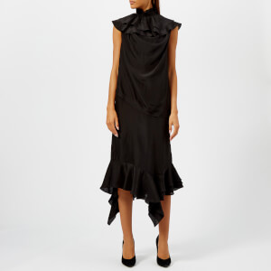 JW Anderson Women's Sleeveless Ruffle Dress - Black