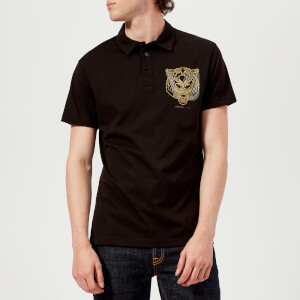 Versace Jeans Men's Tiger Logo Polo Shirt - Black