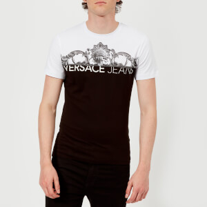 Versace Jeans Men's Chest Script Logo T-Shirt - Black/White