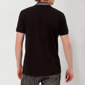 Versace Collection Men's Collar Detail Polo Shirt - Nero: Image 2