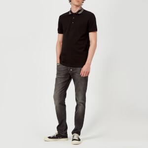 Versace Collection Men's Collar Detail Polo Shirt - Nero: Image 3