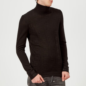 Versace Collection Men's Roll Neck Knit Jumper - Nero