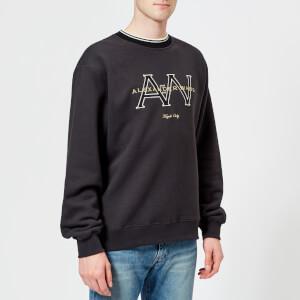 Alexander Wang Men's Withhaw Monogram Sweatshirt - Faded Black
