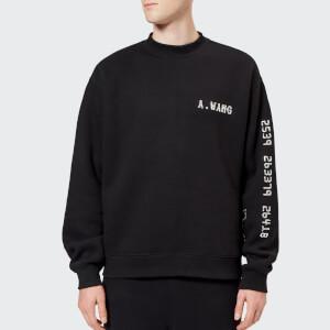 Alexander Wang Men's Credit Card Decal Sweatshirt - Black