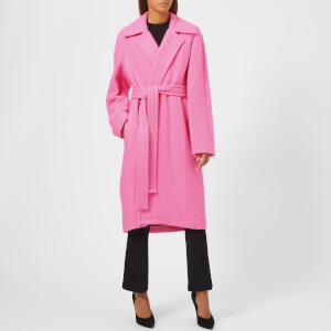 Helmut Lang Women's Nappy Wool Coat - Disco Pink