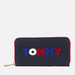 Tommy Hilfiger Women's Poppy Large Zip Around Purse - Navy
