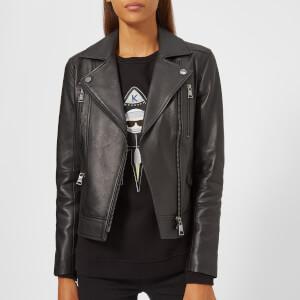 Karl Lagerfeld Women's Ikonik Biker Jacket - Black