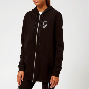 Karl Lagerfeld Women's K/Ikonik Karl Zip Up Hoody - Black