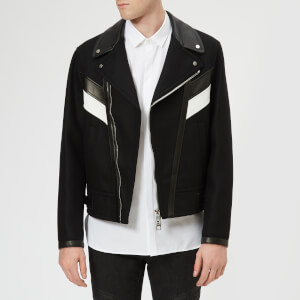 Neil Barrett Men's Wool & Leather Modernist Jacket - Black/White
