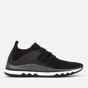 Armani Exchange Women's Knitted Running Style Trainers - Black