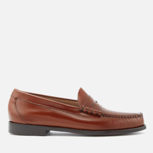 Bass Weejuns Men's Larson Moc Leather Penny Loafers - Mid Brown