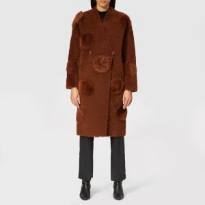 Anne Vest Women's Abi Shearling Dots Coat - Brown
