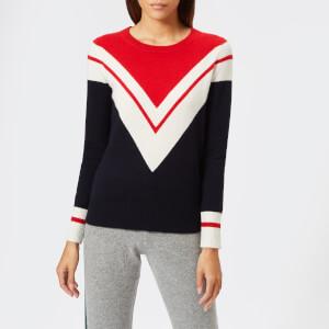 Madeleine Thompson Women's Eris Knit Jumper - Navy/Red/Cream