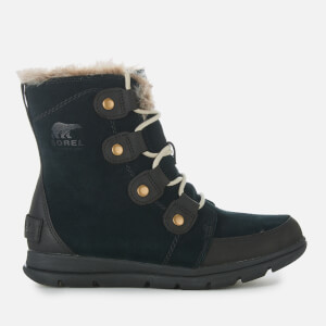 Sorel Women's Explorer Joan Hiker Style Boots - Black Dark Stone