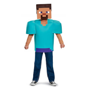 Minecraft Kids Steve Classic Fancy Dress - Blue