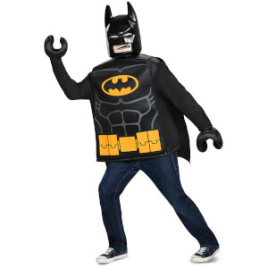LEGO Batman Movie Adult Batman Classic Fancy Dress - Black
