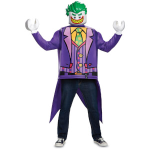 LEGO Batman Movie Adult Joker Classic Fancy Dress - Purple