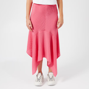 Ganni Women's Lynch Seersucker Skirt - Hot Pink