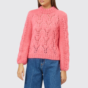 Ganni Women's The Julliard Mohair Jumper - Hot Pink