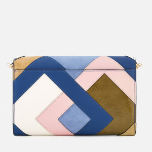 Tory Burch Women's Robinson Pieced Chain Wallet - Bright Navy/Multi: Image 2