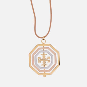 Tory Burch Women's Logo Spinner Pendant Necklace - Gold/Silver/Rose Gold