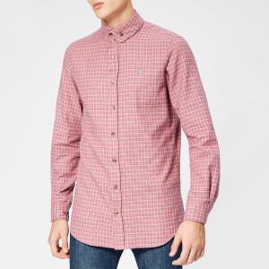 Vivienne Westwood Men's Tartan Viyella 2 Button Krall Shirt - Fuchsia