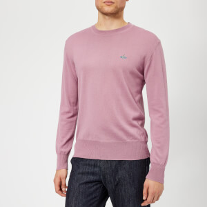 Vivienne Westwood Men's Classic Round Neck Knitted Jumper - Dusty Pink