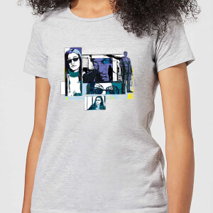 T-Shirt Femme Bulles de Comics Jessica Jones - Marvel Knights - Gris