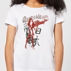 T-Shirt Femme Elektra Assassin - Marvel Knights - Blanc