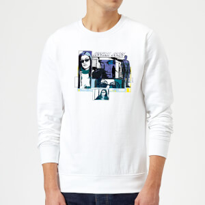 Marvel Knights Jessica Jones Comic Panels Sweatshirt - White