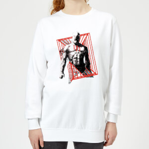 Marvel Knights Daredevil Cage Women's Sweatshirt - White