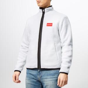 Calvin Klein Jeans Men's Reversible Institutional Logo Zip Jacket - CK Black