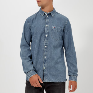 Tommy Jeans Men's TJM Clean Denim Shirt - Mid Indigo