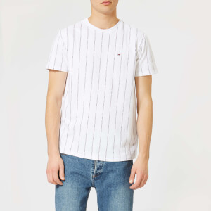 Tommy Jeans Men's TJM Baseball Stripe T-Shirt - Classic White