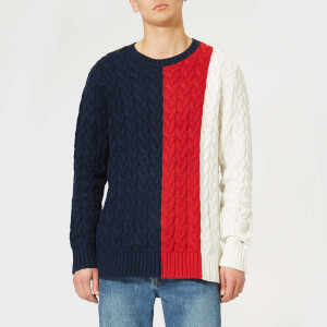 Tommy Jeans Men's TJM Colorblock Knit Sweater - Black Iris/Multi