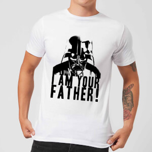 T-Shirt Star Wars Homme Dark Vador Confession Je Suis Ton Père - Blanc