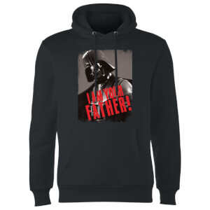 Star Wars Darth Vader I Am Your Father Gripping Hoodie - Black